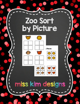 Zoo Sort by Picture File Folder Game for students with Autism