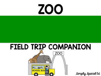 Zoo Special Education Field Trip Companion
