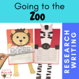 Zoo Unit {CCSS Research, Writing} Kindergarten - 3rd  Grade