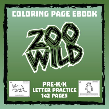 Zoo Wild Coloring Page eBook -- Letter Practice -- Homesch