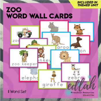 Zoo Word Wall Cards (set of 7)