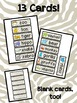 Zoo Unit - Word Wall Vocabulary Cards