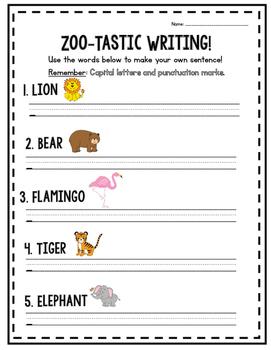 Zoo-tastic Sentence Writing!