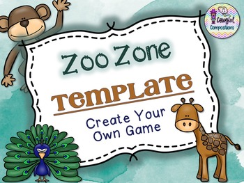 Zoo Zone Template  - Create Your Own Game