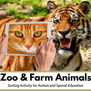 Zoo and Farm Animals Sorting Activity