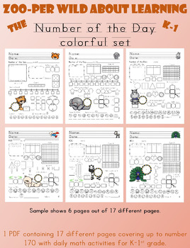 Zoo-per Wild about Learning the Number of the Day - Colorf