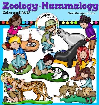 Zoology- mammalogy clip art