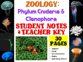 Zoology: Phylum Cnidaria and Ctenophora Notes Handout and