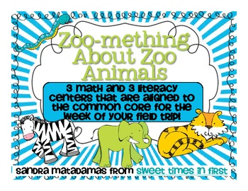 Zoomething About Zoo Animals Common Core Math and Literacy