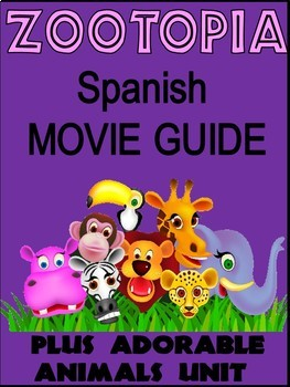 Zootopia Movie Packet in Spanish with Animal Unit