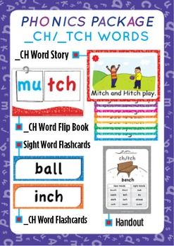'_CH / _TCH WORDS' Phonics Lesson Package