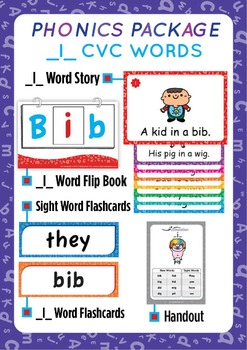 '_I_ CVC WORDS' Phonics Lesson Package