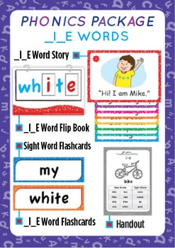 '_I_E WORDS' Phonics Lesson Package