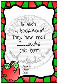 __ Is Such A Bookworm! Certificate