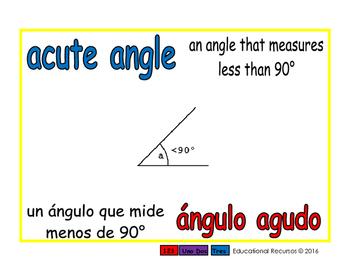 acute angle/angulo agudo geom 1-way blue/rojo
