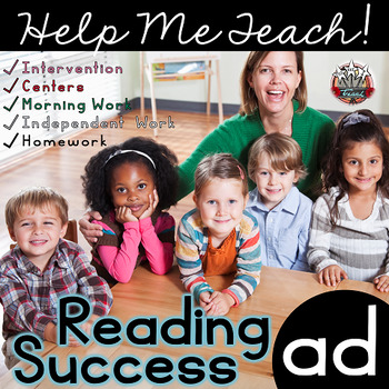 ad Word Family: Intervention, Homework, Morning Work, Centers,