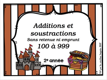 additions et soustractions sans retenue ni emprunt