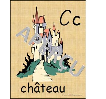 affiches de l'alphabet des contes (script)
