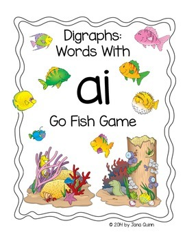 ai Go Fish Digraph/Phonics Game