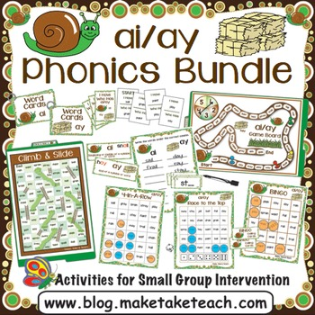ai ay Activities - The Big Phonics Bundle