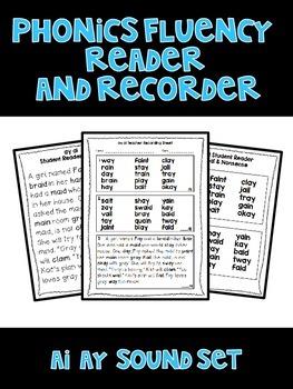 ai ay - Phonics Fluency Assessment