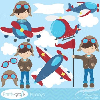 airplane pilot clipart commercial use, vector graphics, di