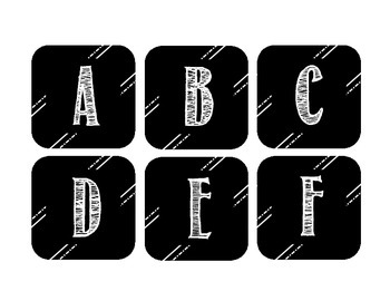 alphabet and numbers 0-32, black and white