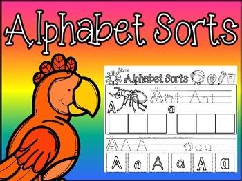alphabet sorts cut and paste