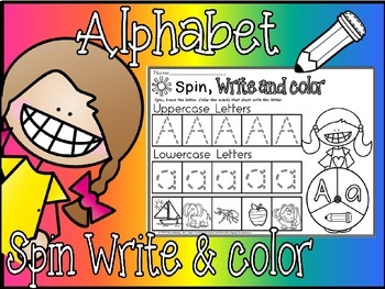 alphabet spin write and color