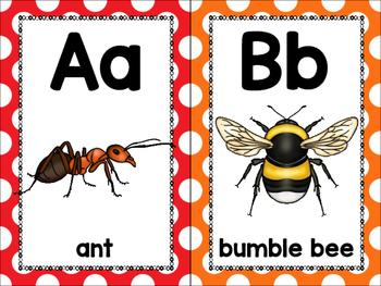 alphabet_half page: insect theme plus bonus strip puzzle