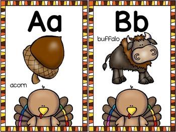 alphabet_half page: thanksgiving theme