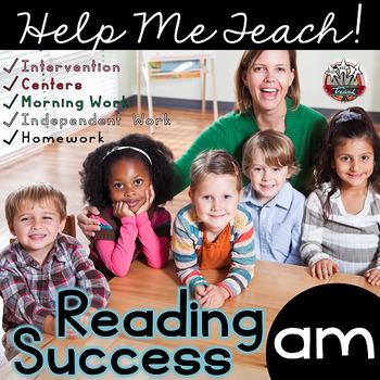 am Word Family: Intervention, Homework, Morning Work, Centers,