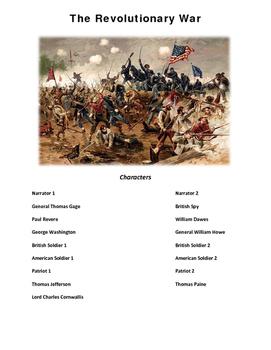 american Revolution Play Script Revolutionary War Reader's