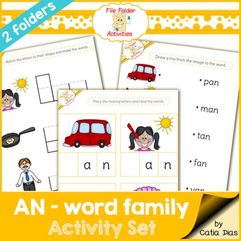 an Word Family - File Folder Activities