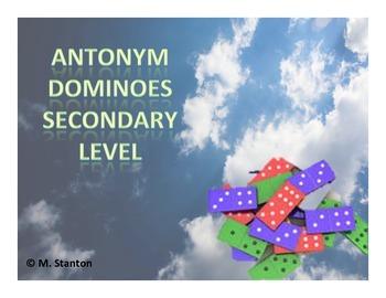 Antonym Dominoes Game - Secondary Level