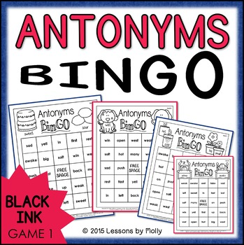 Antonyms Game One {Black Ink}