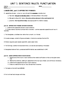 appositive phrases mini-lesson