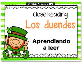 Los duendes - CLOSE READING, Aprendiendo a leer