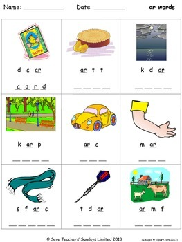ar phonics lesson plans, worksheets and other teaching resources