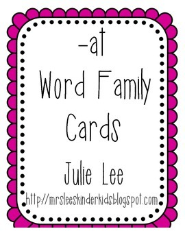 at Word Family Sorting Cards