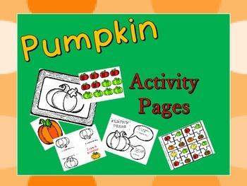 autumn pumpkin activity sheets