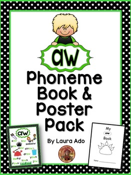 aw Phoneme Book & Poster Pack with Phonics Practice