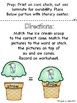 aw/au Ice Cream Stack Literacy Centers/Activity