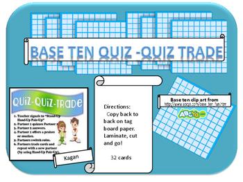 base ten quiz Quiz trade cards