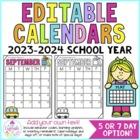 Behavior Calendars {Editable!} 2016-2017