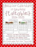 Behavior Calendars in Spanish {Editable!} 2014-2015