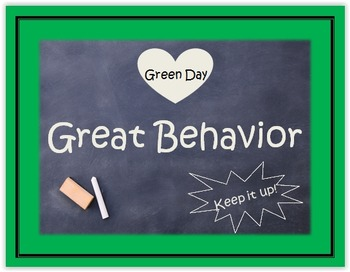 behavior chart chalk themed