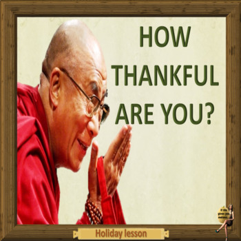 Being thankful - more than just once a year,  ESL adults c