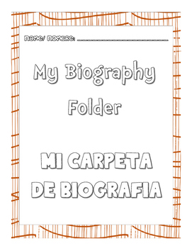 biography folder cover