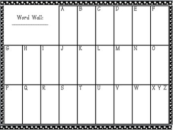 blank dots word wall